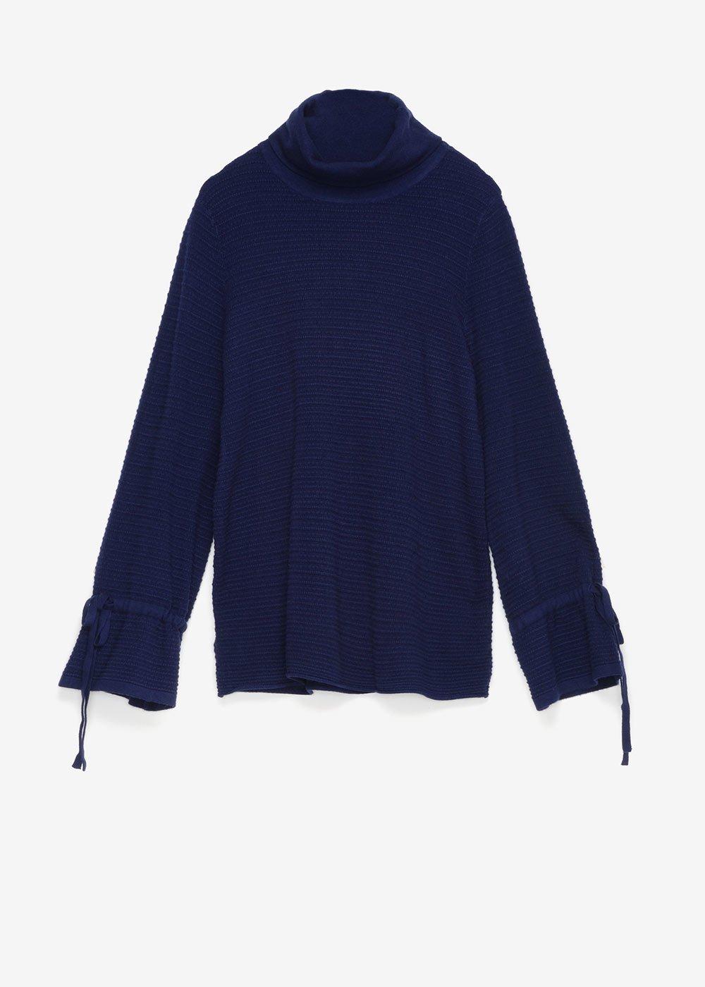 Moniq sweater with cowl neck - Ultramarine - Woman
