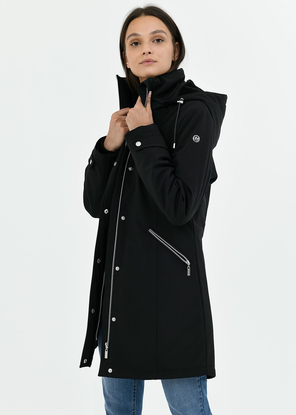 Peter down jacket in technical fabric - Black - Woman