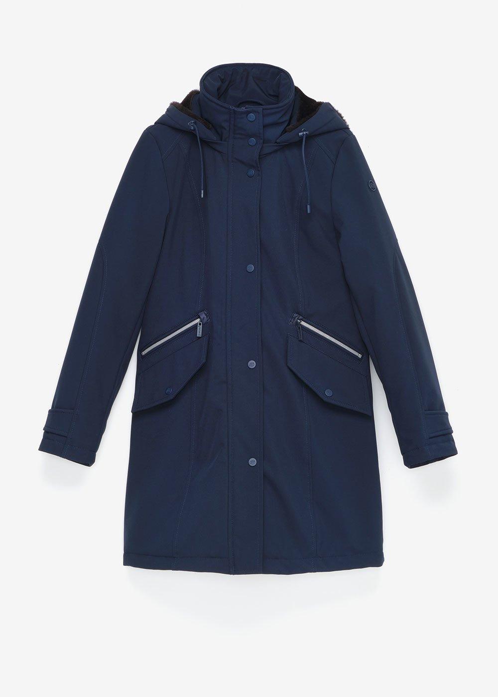 Pedros down jacket in technical fabric - Ultramarine - Woman