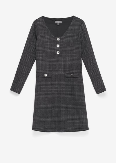 Astrid dress with check pattern