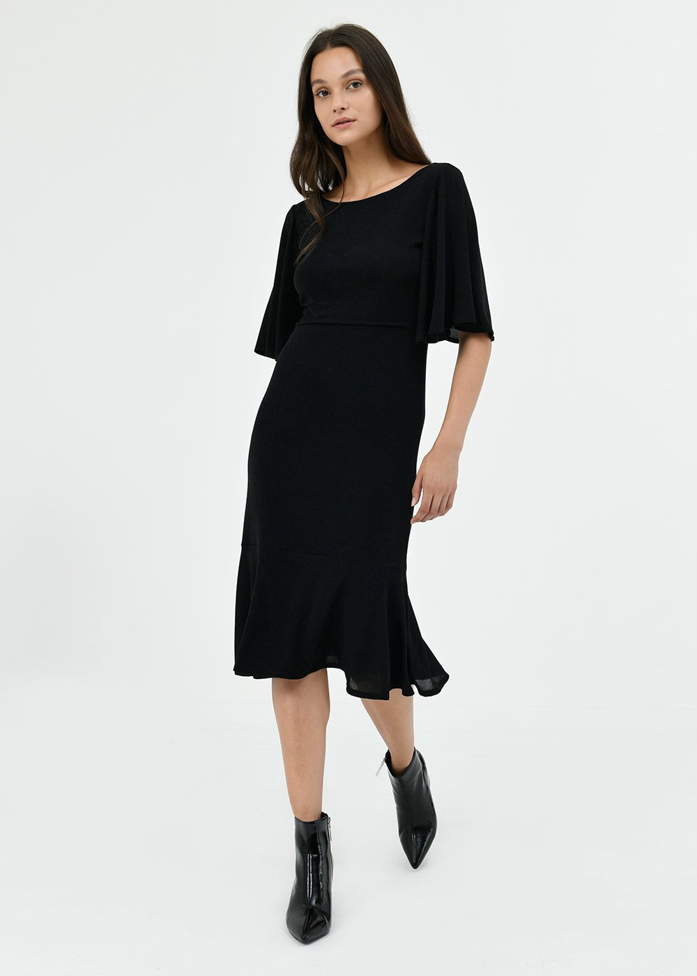 Apryl lurex dress - Black - Woman