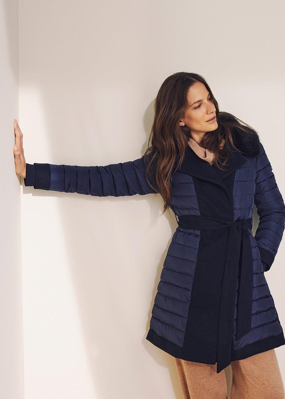 Pier coat with fur - Ultramarine - Woman