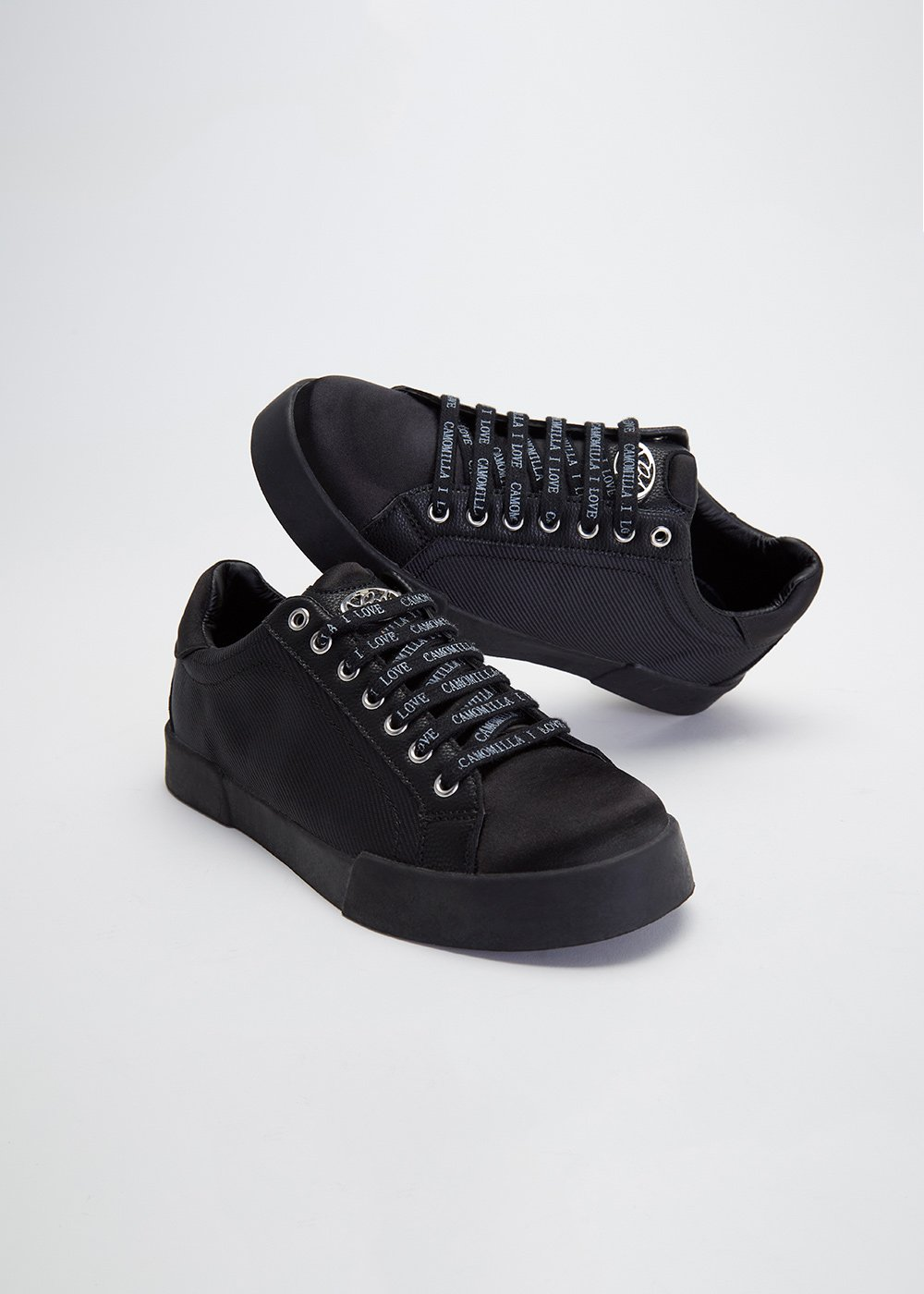 Sindy sneakers with laces with logo - Black - Woman