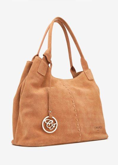 Shopping Bag Bertha in camoscio