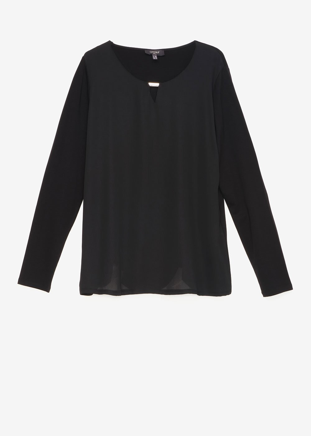 Shari double fabric T-shirt - Black - Woman