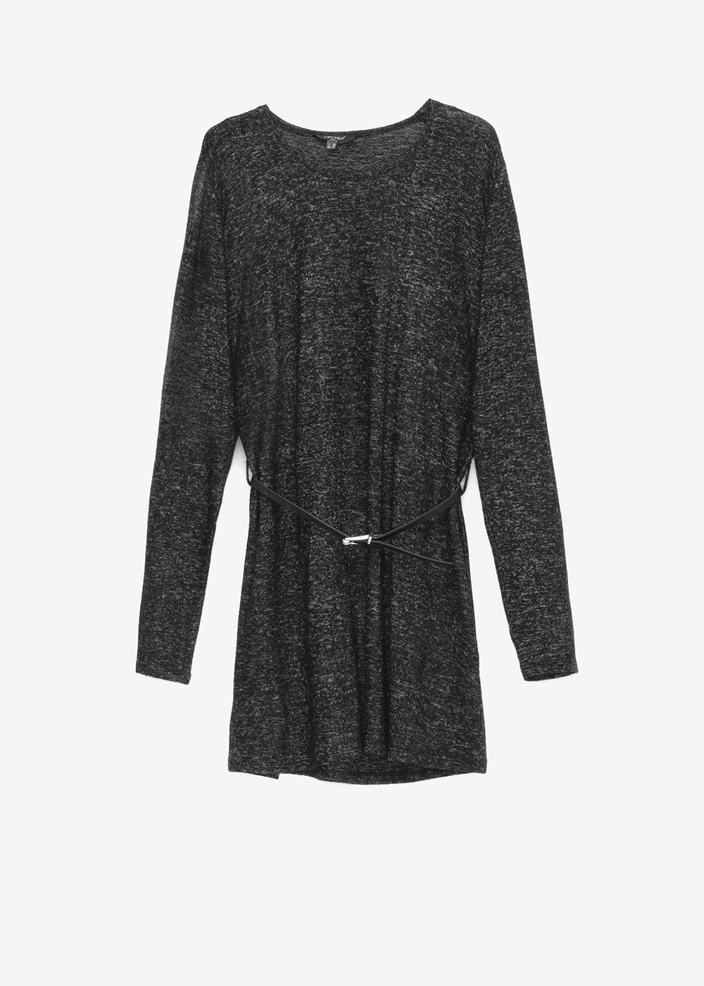 Meredit sweater with belt - Anthracite - Woman