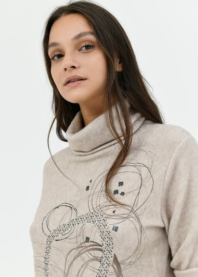 Moyra sweater with concentric circles