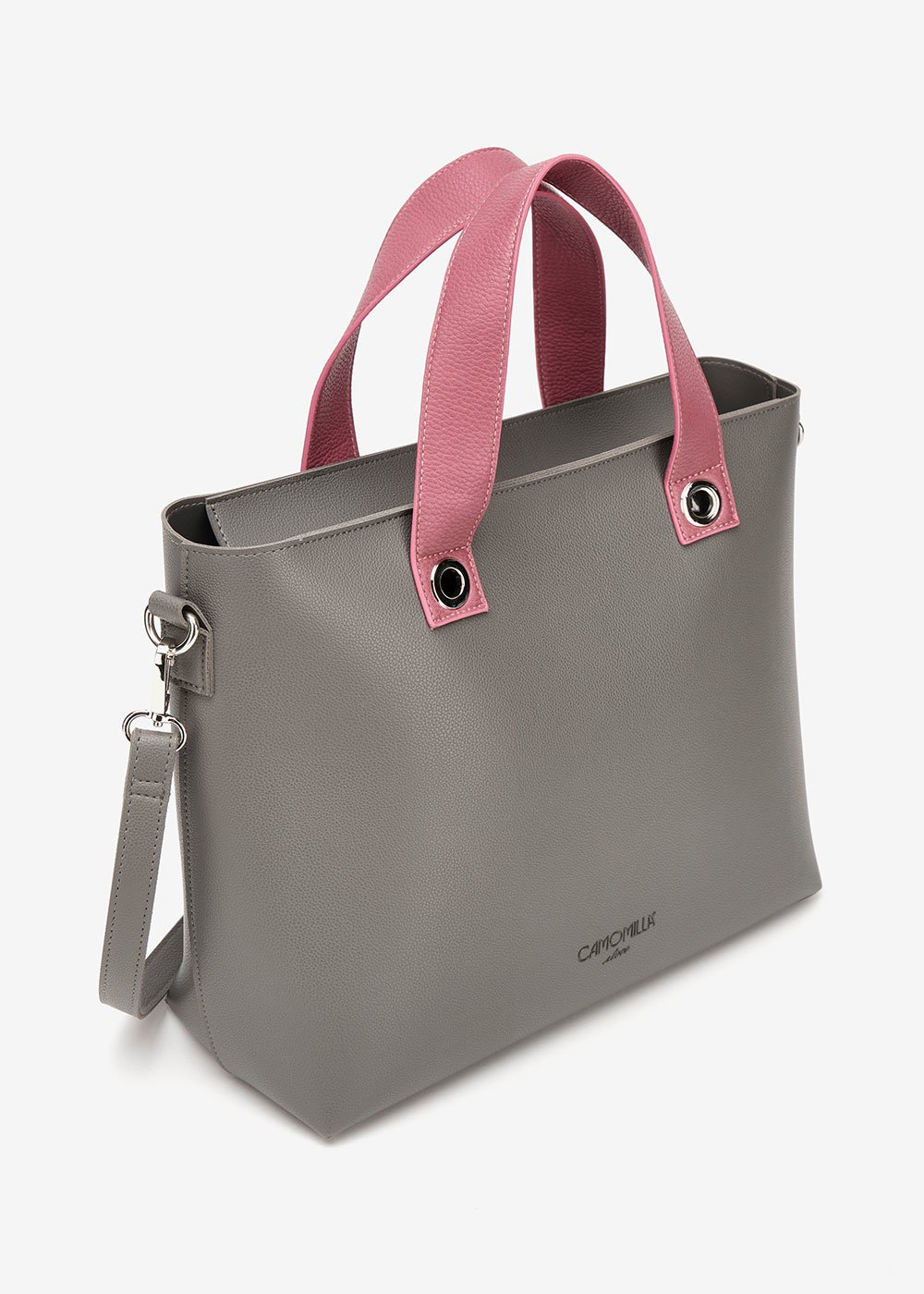 Bessie two-tone shopping bag - Anthracite - Woman