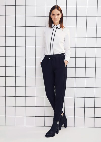 Carlotta shirt with contrasting piping
