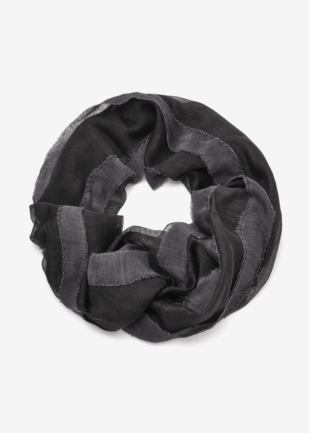 Sheila wool scarf - Black - Woman