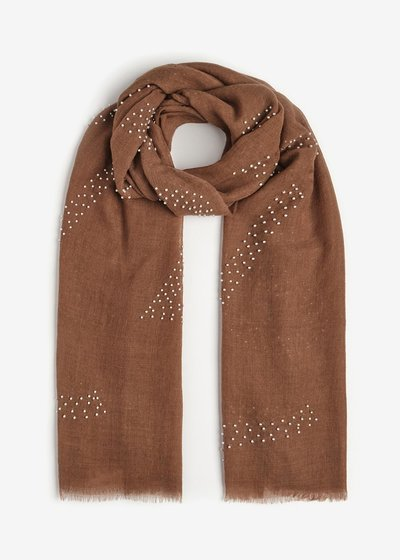 Sonia Scarf with Embroidery