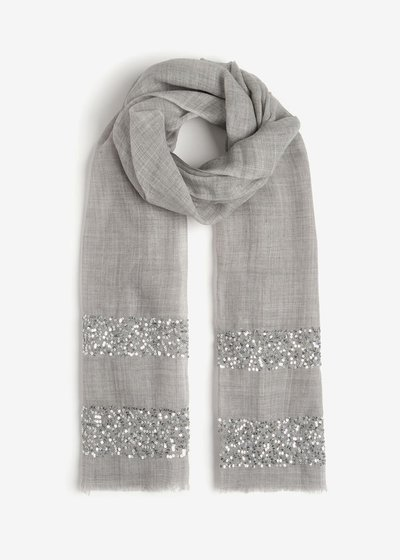 Silvia Scarf with Pailettes
