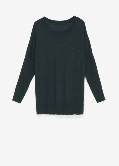Marlen sweater with boat neckline