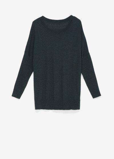 Marlen sweater with boat neckline