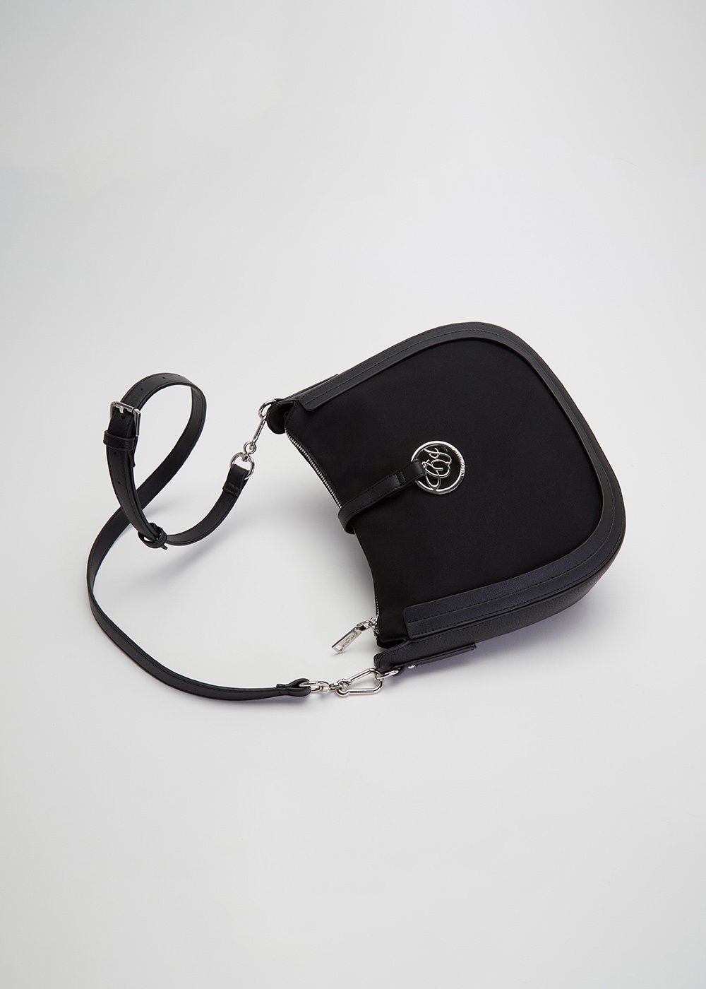 Bachou shoulder bag with clip closure - Black - Woman