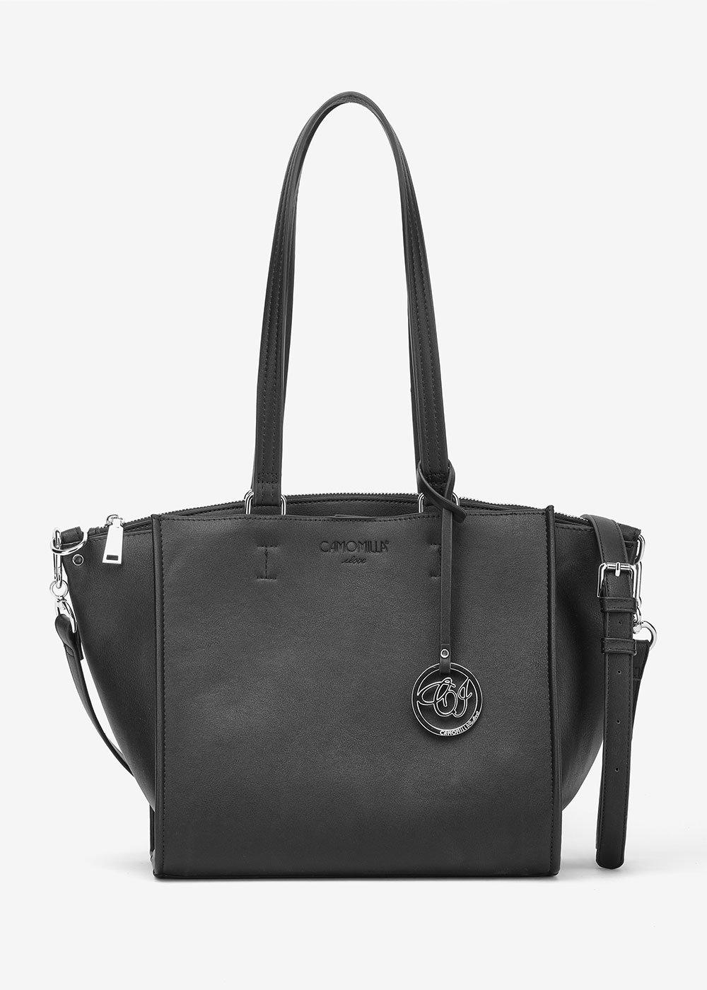 Baloo shopping bag with long handles - Black - Woman