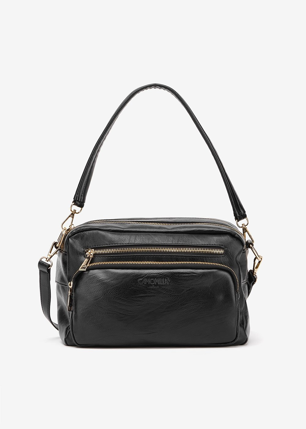 Berys multi- compartment Boston bag - Black - Woman