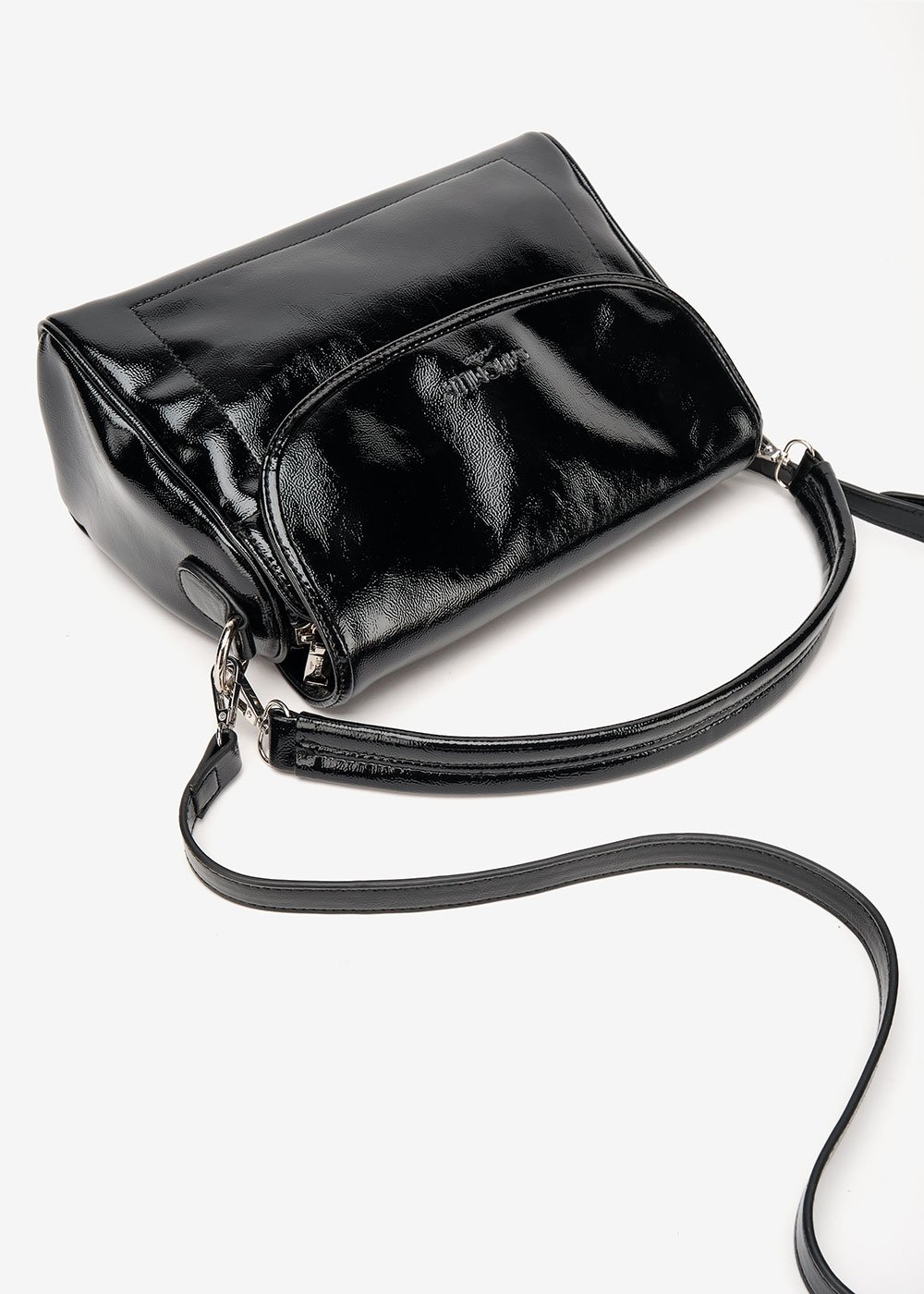 Brays patent leather bag - Black - Woman