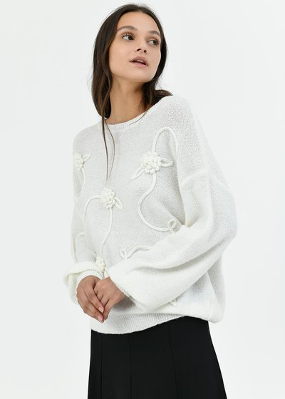 Mary sweater with puff sleeve