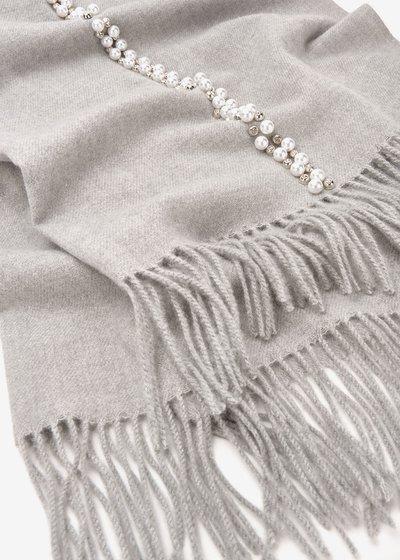 Sciarpa Synk con perle e strass