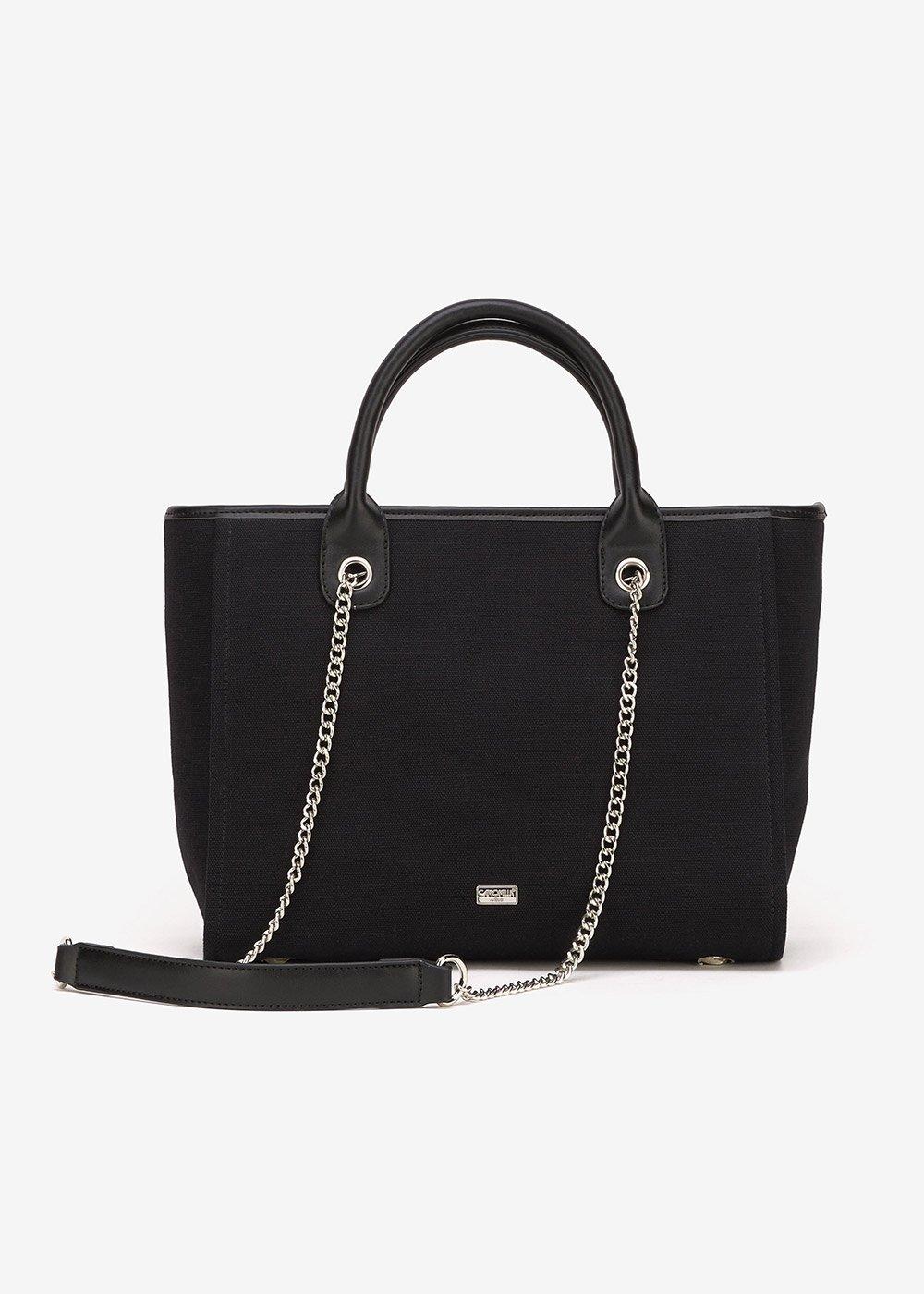 Bett canvas shopping bag - Black - Woman