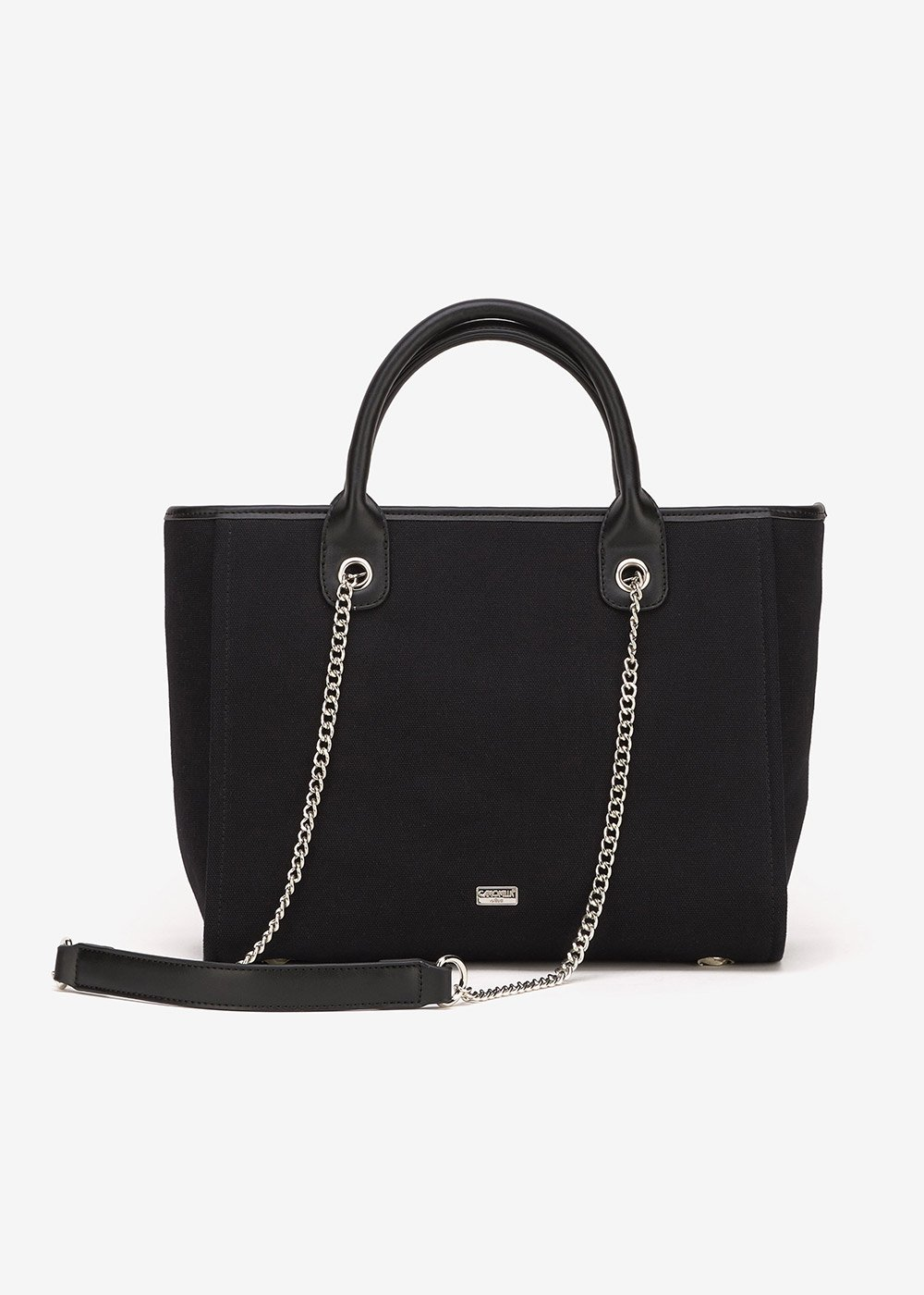 Shopping bag Bett in canvas - Black - Donna