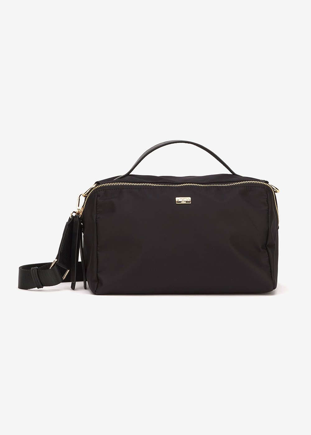 Blanc Boston bag in technical fabric - Black - Woman