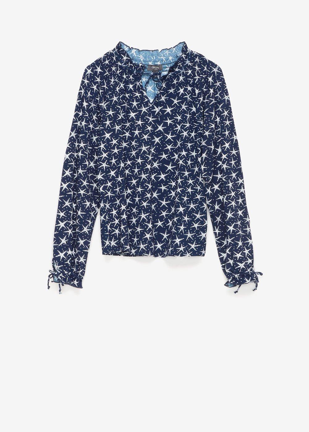 Susan t-shirt with star pattern - Blue / White / Multi - Woman