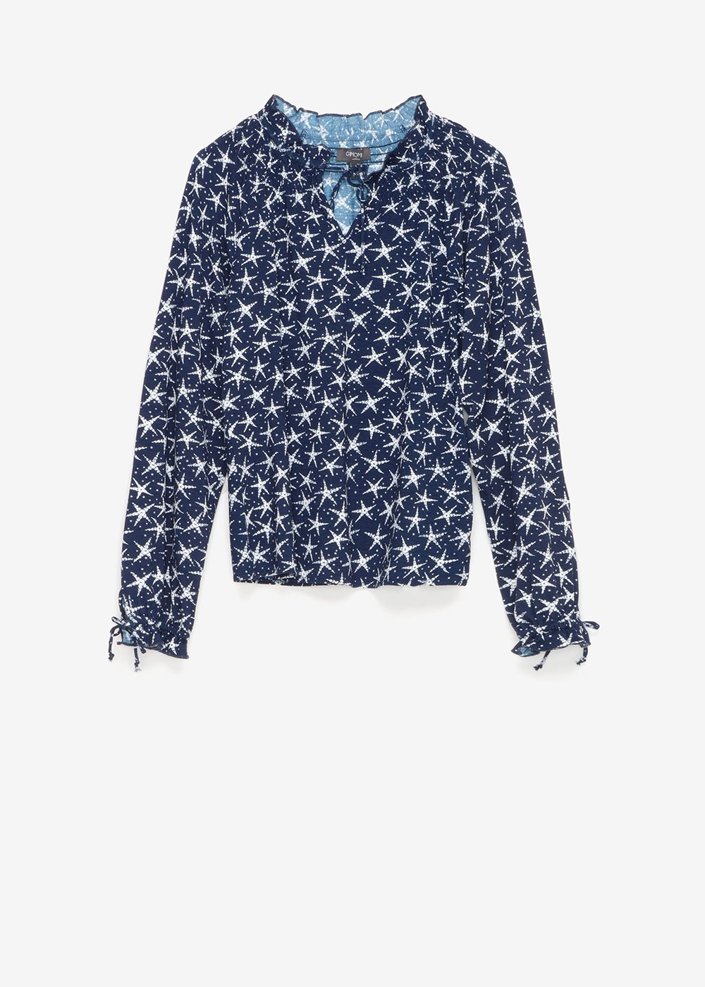 Susan t-shirt with star pattern - Blue / White / Multi - Woman
