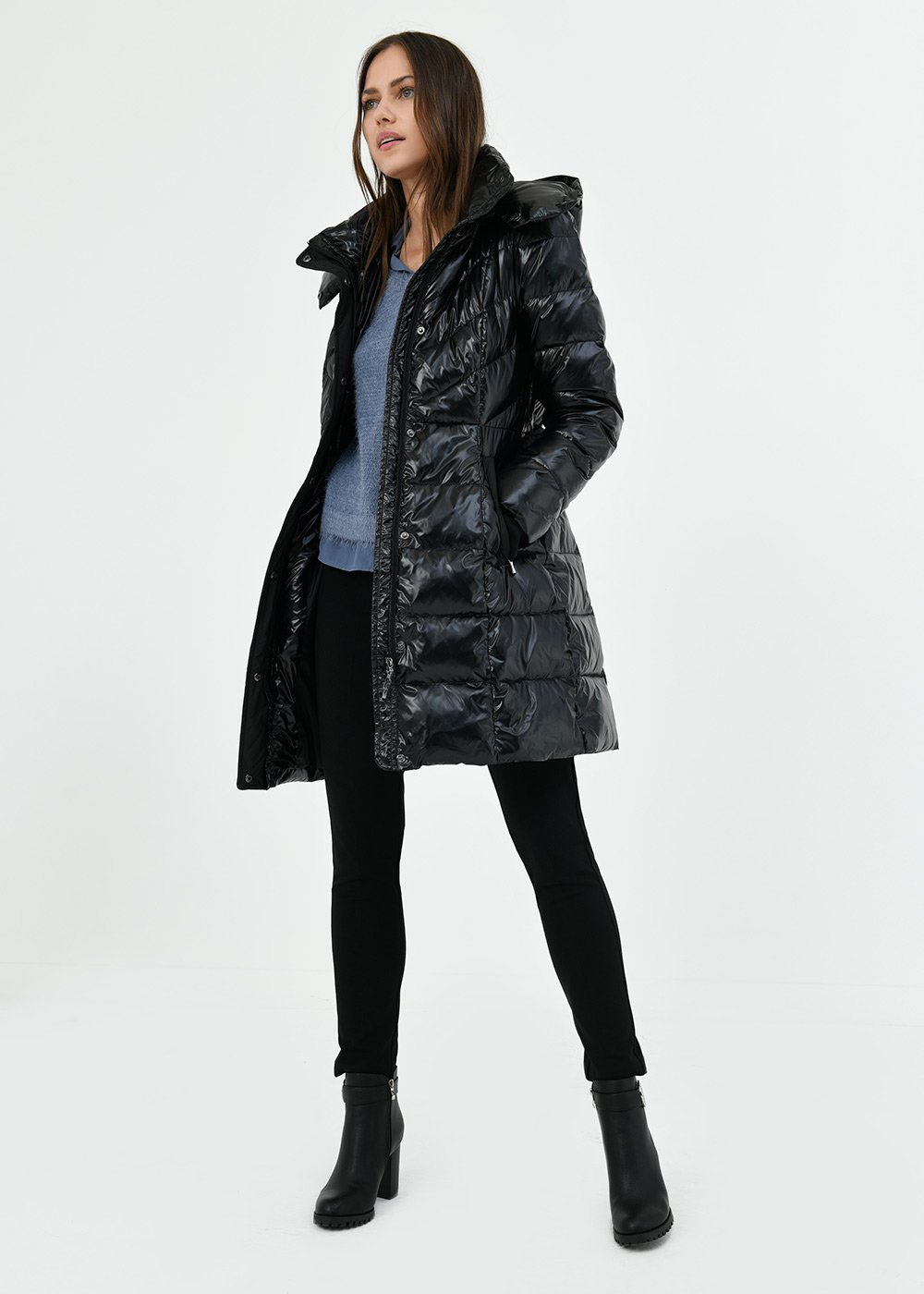 Prince down jacket in technical fabric - Black - Woman