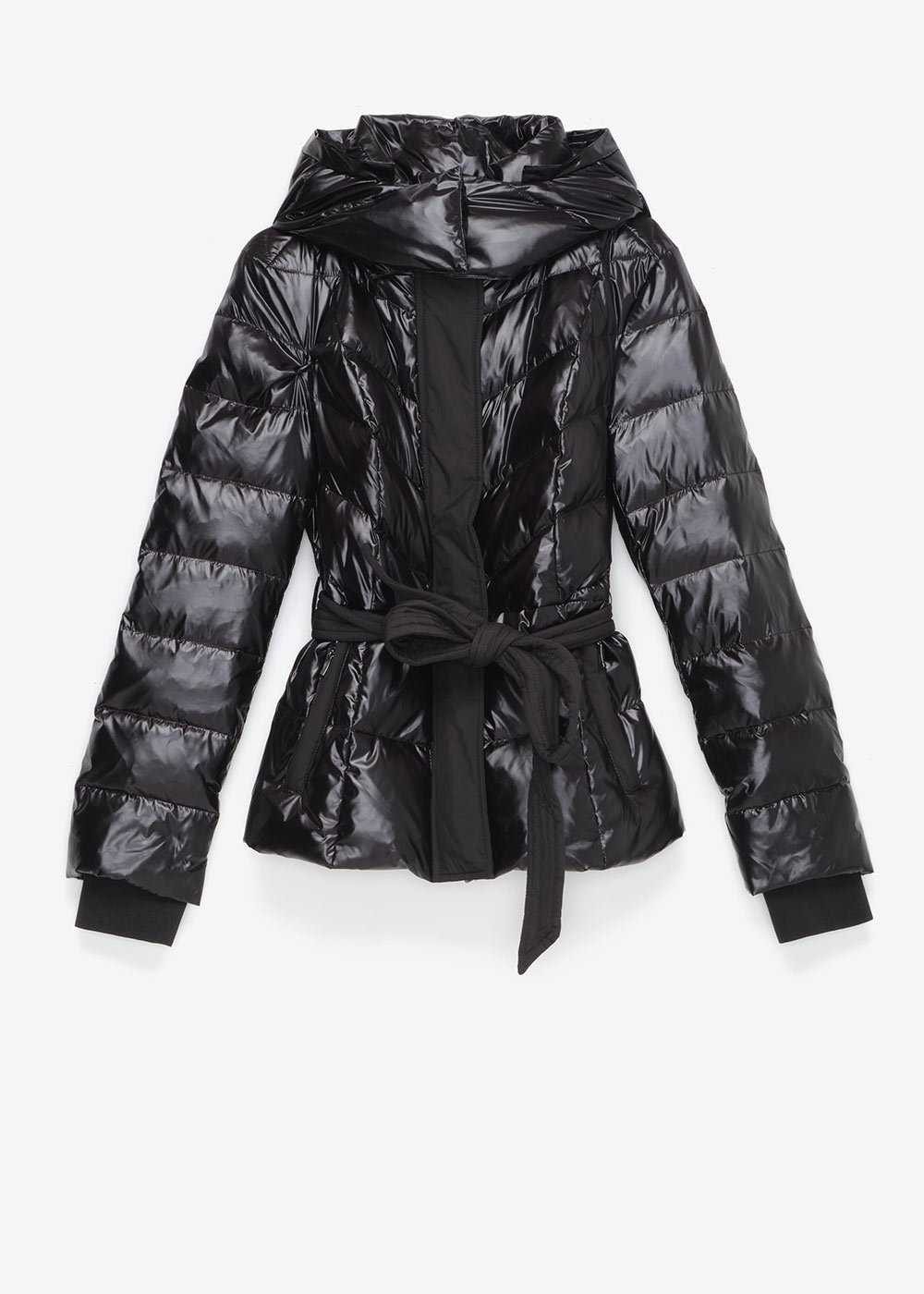 Python down jacket in technical fabric - Black - Woman