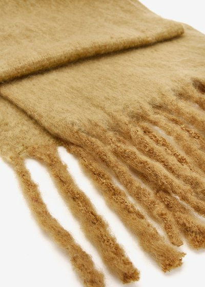 Sabry scarf with boiled wool effect