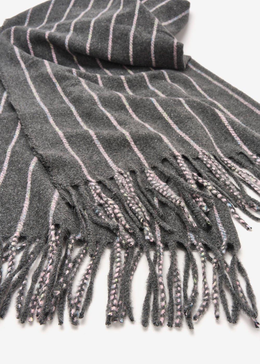 Sciarpa Sael rigata - Antracite Stripes - Donna