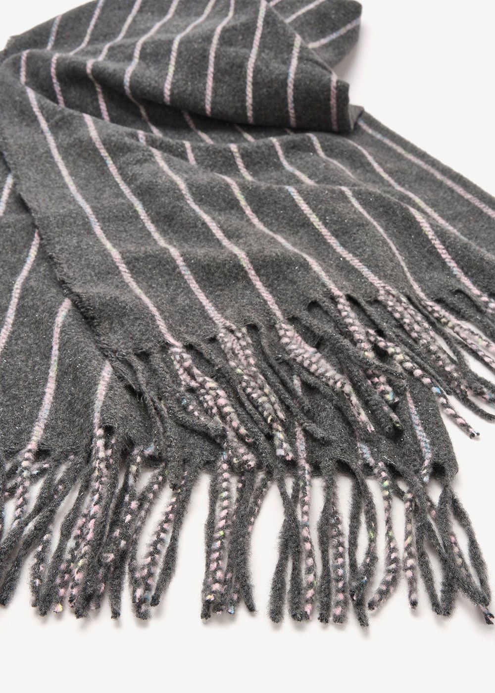 Sael striped scarf - Antracite Stripes - Woman