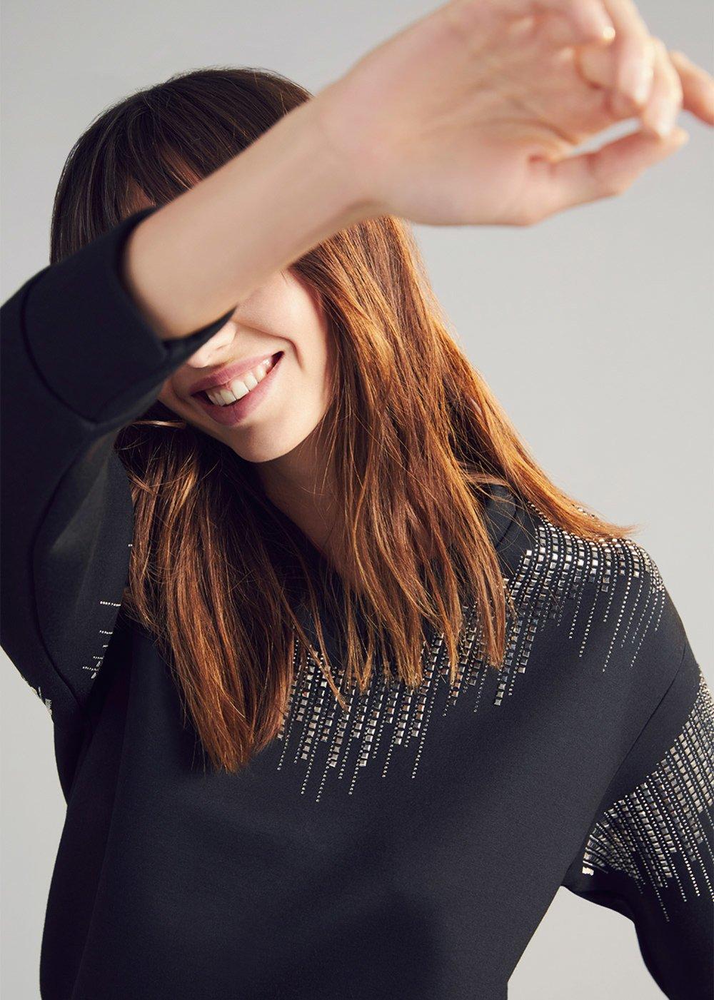 Swamy sweatshirt with appliqué - Black - Woman