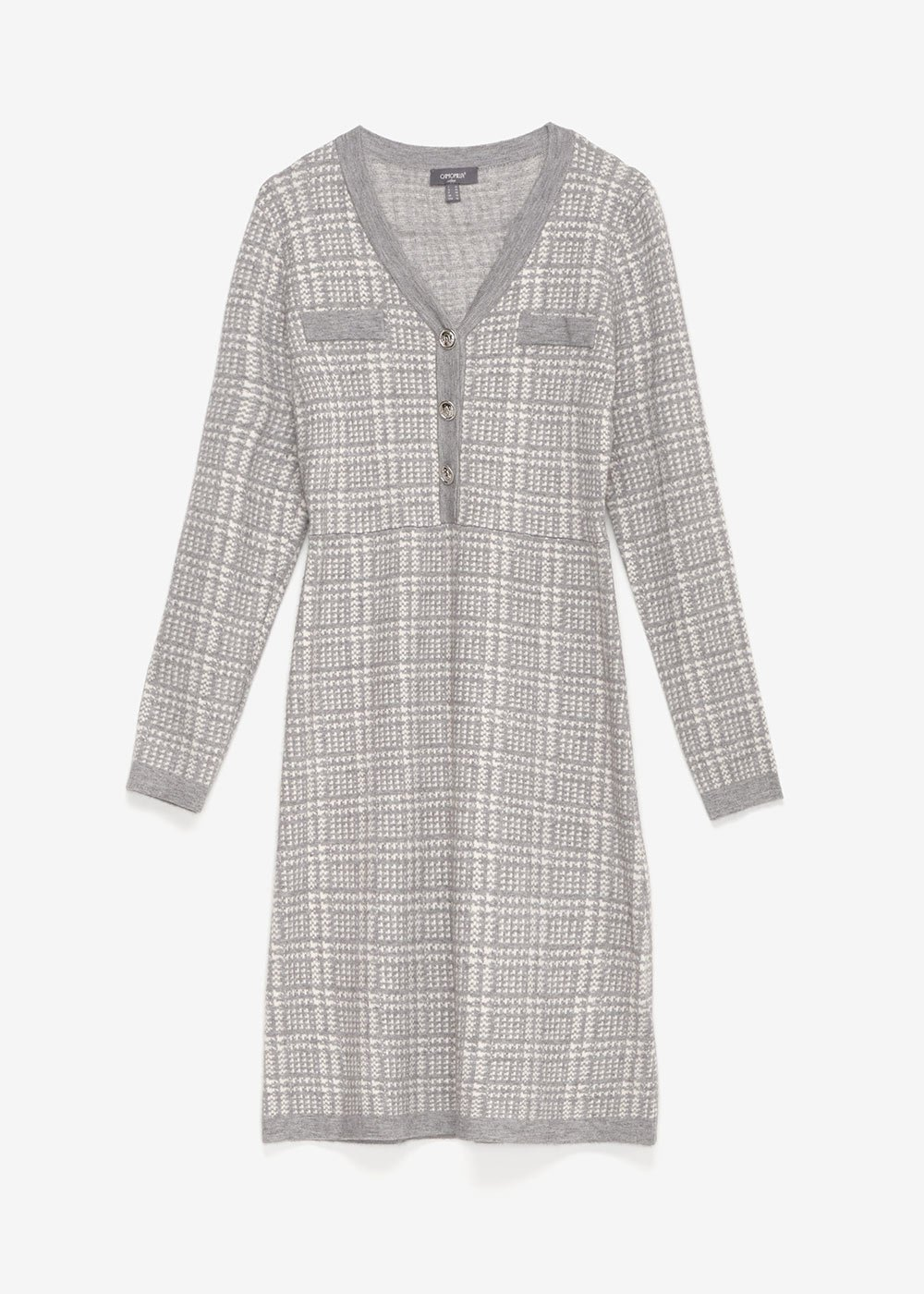 Adriano dress with check pattern - Medium Gre / Latte / Fantasia - Woman
