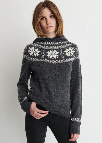 Maryan Wool Blend Sweater with Hood