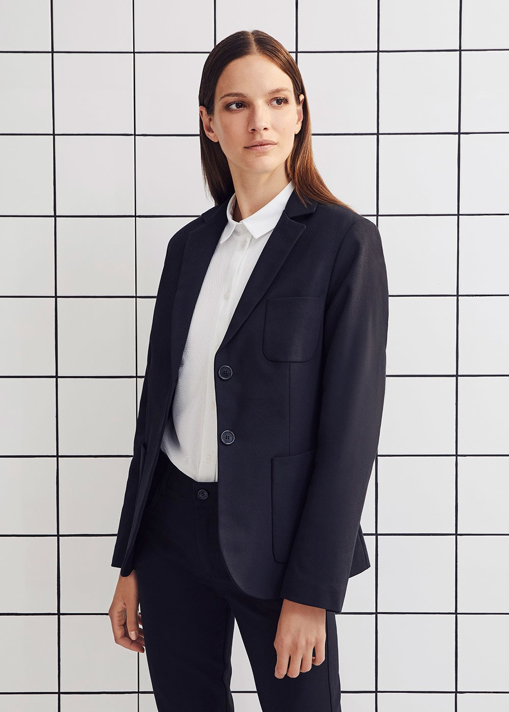 Kelly jacket in technical fabric - Black - Woman