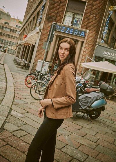 Kelly faux-suede jacket