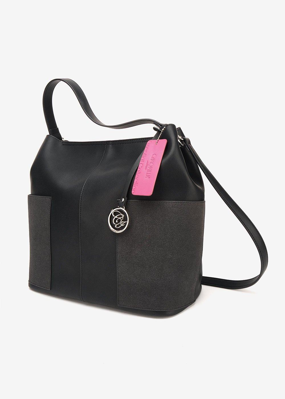 Shopping bag Beryl modello sacca - Black - Donna