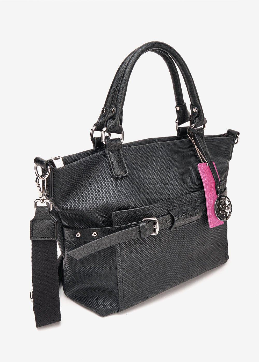 Brigida tote bag with shoulder strap - Black - Woman