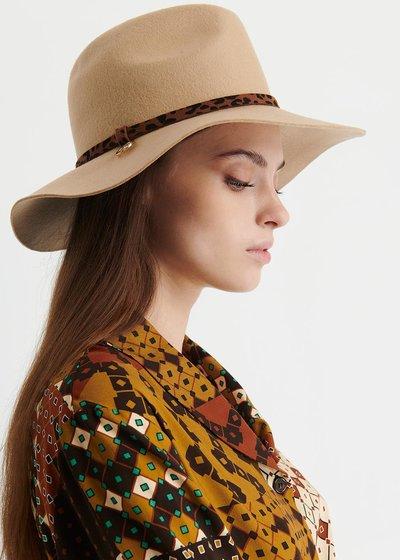 Carey Hat with Animalier Ribbon