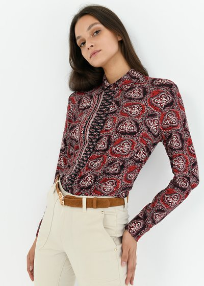 Alessia cashmere patterned shirt