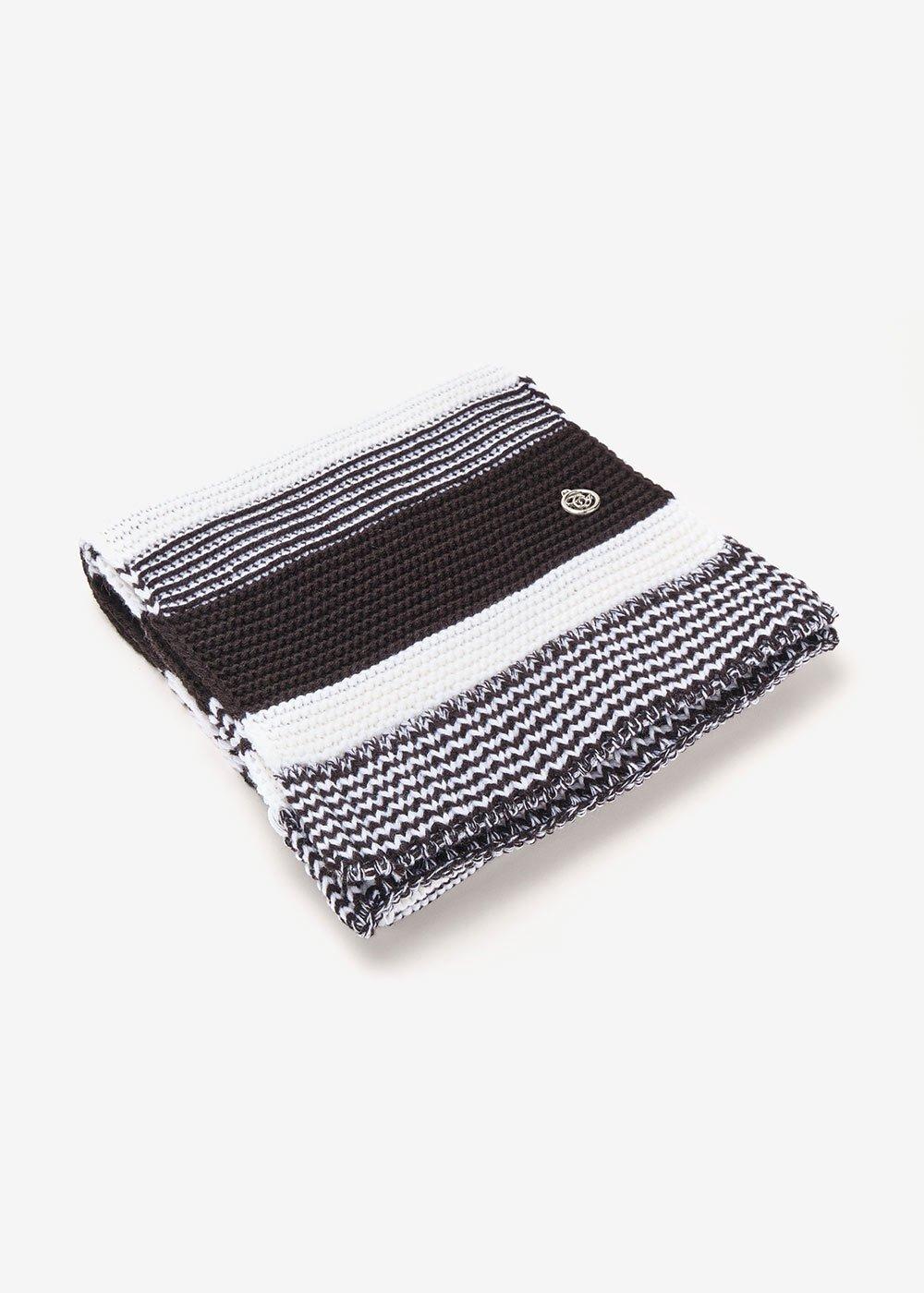 Sciarpa Sharen bi color black&white - Black / White Stripes - Donna