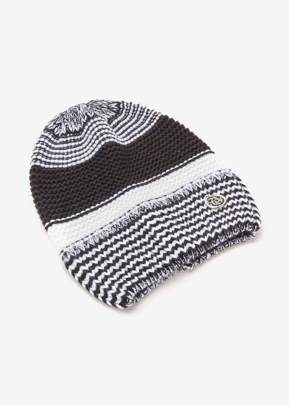 Cappello Cheren bi color black&white - Black / White Stripes - Donna