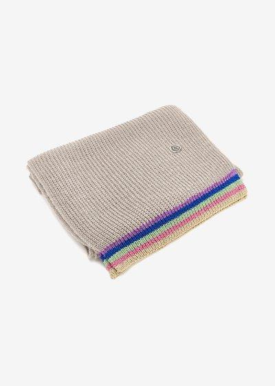 Shelli scarf with multicolour lurex hem