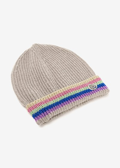 Chelli hat with multicolour lurex hem