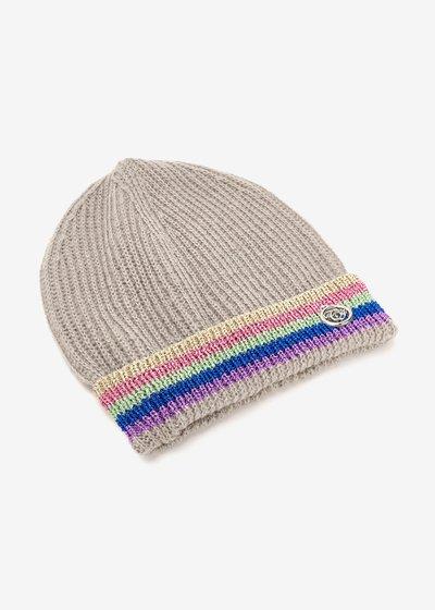 Cappello Chelli con bordino multicolor lurex