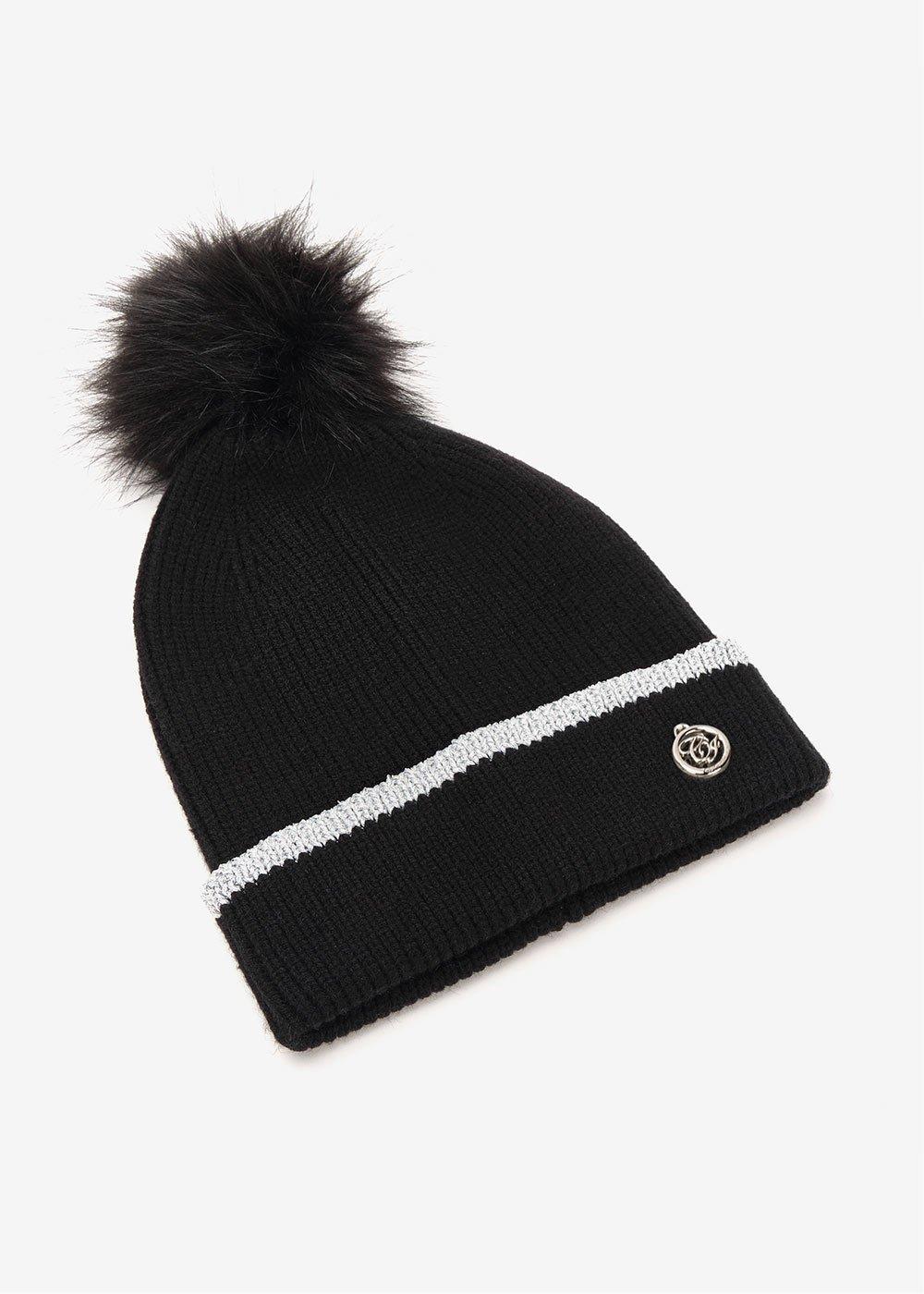 Cammi hat with lurex hem - Black - Woman