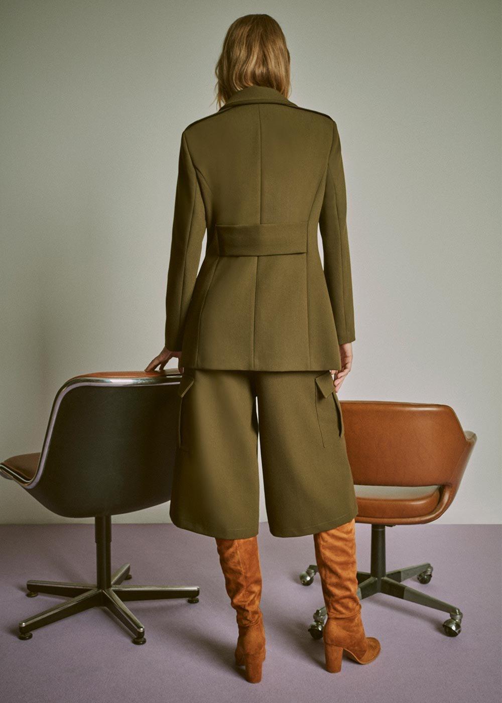 Gaia military jacket - Green - Woman